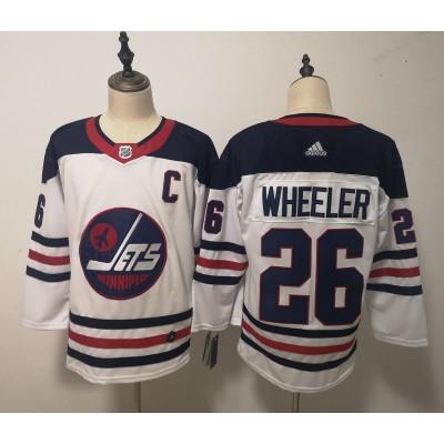 NHL Jets 26 Blake Wheeler White Breakaway Heritage Adidas Men Jersey