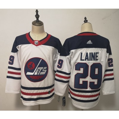 NHL Jets 29 Patrik Laine White Breakaway Heritage Adidas Men Jersey