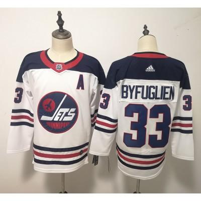 NHL Jets 33 Dustin Byfuglien White Breakaway Heritage Adidas Men Jersey