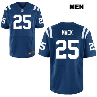 Nike Colts 25 Marlon Mack Blue Elite Men Jersey
