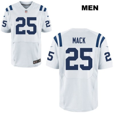 Nike Colts 25 Marlon Mack White Elite Men Men Jersey