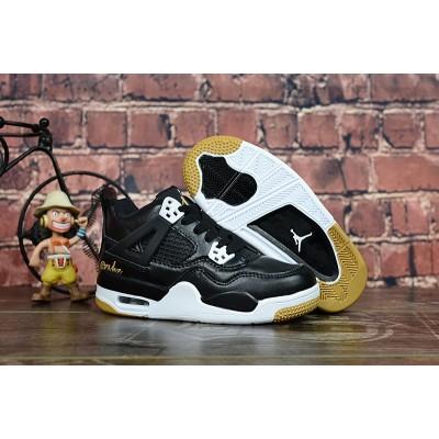 "Air Jordan 4 ""Black Gold"" Kids Shoes"