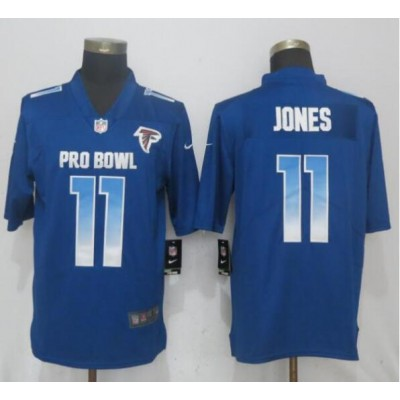 Nike NFC Falcons 11 Julio Jones Royal 2019 Pro Bowl Game Men Jersey