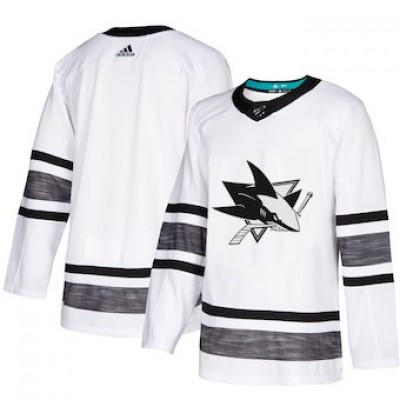 NHL Sharks White 2019 NHL All-Star Game Adidas Men Jersey