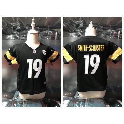 Nike Steelers 19 JuJu Smith-Schuster Black Toddler Jersey