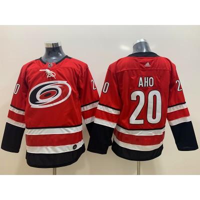 NHL Hurricanes 20 Sebastian Aho Red Adidas Youth Jersey
