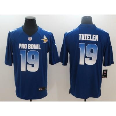 Nike NFC Vikings 19 Adam Thielen Royal 2019 Pro Bowl Game Men Jersey