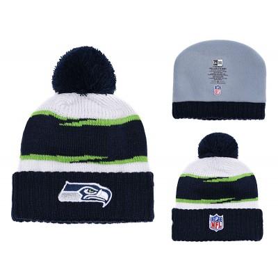 NFL Seahawks Fresh Logo Navy Knit Hat YD