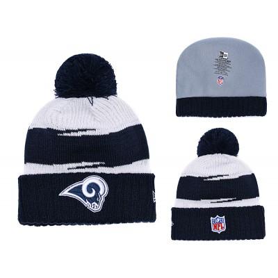 NFL Rams Team Logo Navy Knit Hat YD