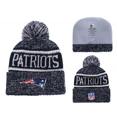 NFL Patriots Team Logo Navy Knit Hat YD