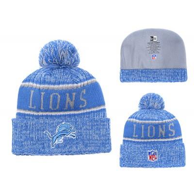 NFL Lions Team Logo Blue Knit Hat YD