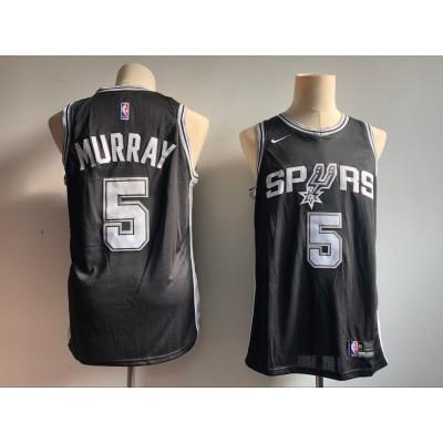 NBA Spurs 5 Dejounte Murray Black Nike Men Jersey