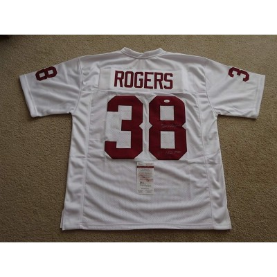NCAA South Carolina Gamecocks 38 George Rogers White Signed Throwback Men Jersey