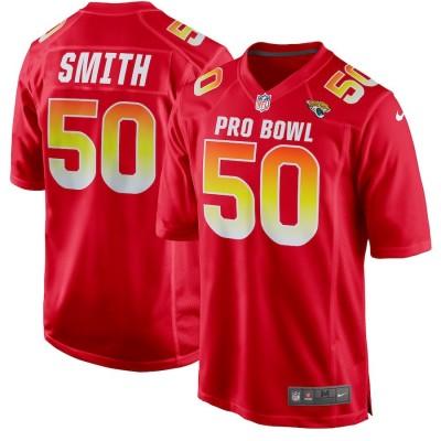 Nike AFC Jaguars 50 Telvin Smith Red 2019 Pro Bowl Game Men Jersey
