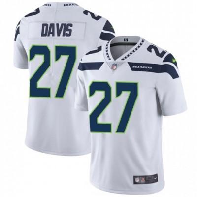 Nike Seattle Seahawks 27 Mike Davis White Vapor Untouchable Limited Men Jersey