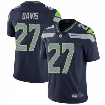Nike Seattle Seahawks 27 Mike Davis Navy Vapor Untouchable Limited Men Jersey