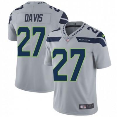 Nike Seattle Seahawks 27 Mike Davis Gray Vapor Untouchable Limited Men Jersey