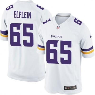 Nike Vikings 65 Pat Elflein White Elite Men Jersey