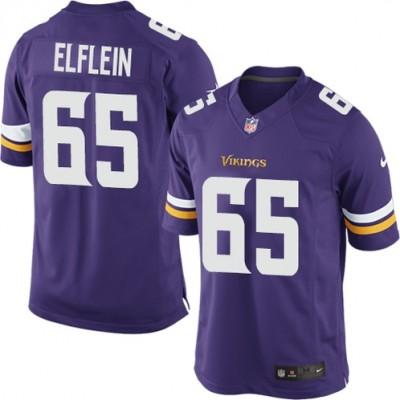 Nike Vikings 65 Pat Elflein Purple Elite Men Jersey