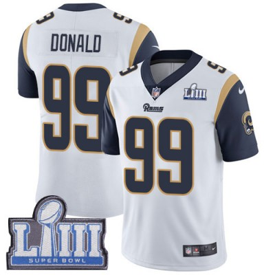 Nike Rams 99 Aaron Donald White 2019 Super Bowl LIII Vapor Untouchable Limited Youth Jersey