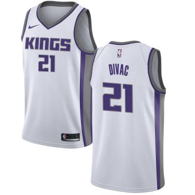 NBA Kings 21 Vlade Divac White Association Edition Nike Men Jersey