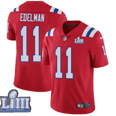 Nike Patriots 11 Julian Edelman Red 2019 Super Bowl LIII Vapor Untouchable Limited Youth Jersey