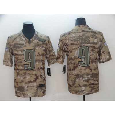 Nike Eagles 9 Nick Foles 2018 Camo Salute to Service Limited Men Jersey
