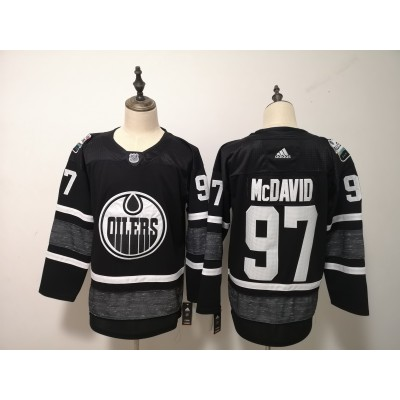 Oilers 97 Connor McDavid Black 2019 NHL All-Star Game Adidas Men Jersey