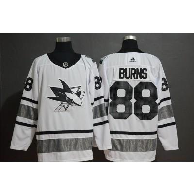 NHL Sharks 88 Brent Burns White 2019 All-Star Game Adidas Men Jersey