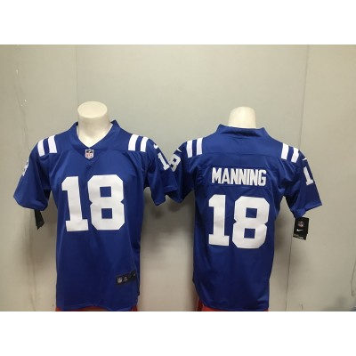Nike Colts 18 Peyton Manning Navy Vapor Untouchable Limited Men Jersey