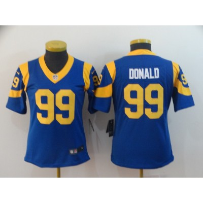 Nike Rams 99 Aaron Donald Royal Vapor Untouchable Limited Women Jersey