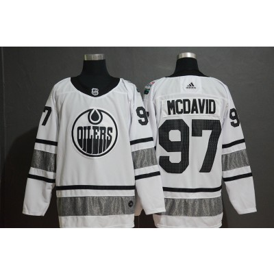 NHL Oilers 97 Connor McDavid White 2019 All-Star Game Adidas Men Jersey