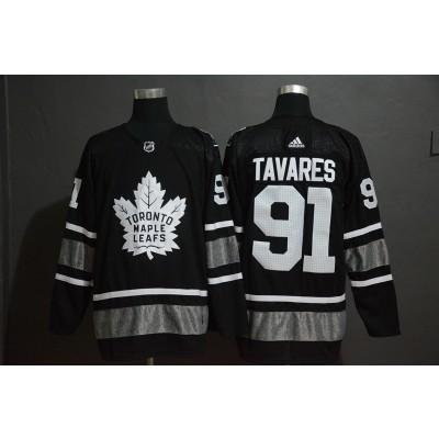 NHL Leafs 91 John Tavares Black 2019 All-Star Adidas Men Jersey