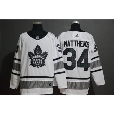 NHL Leafs 34 Auston Matthews White 2019 All-Star Adidas Men Jersey