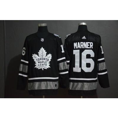 NHL Leafs 16 Mitchell Marner Black 2019 All-Star Game Adidas Men Jersey