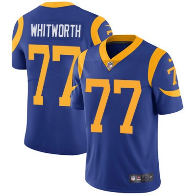 Nike Rams 77 Andrew Whitworth Royal Vapor Untouchable Limited Men Jersey