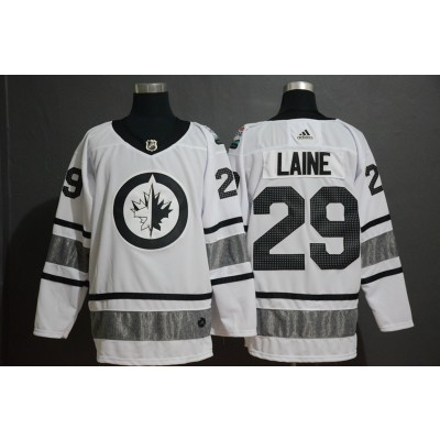 NHL Jets 29 Patrik Laine White 2019 All-Star Adidas Men Jersey