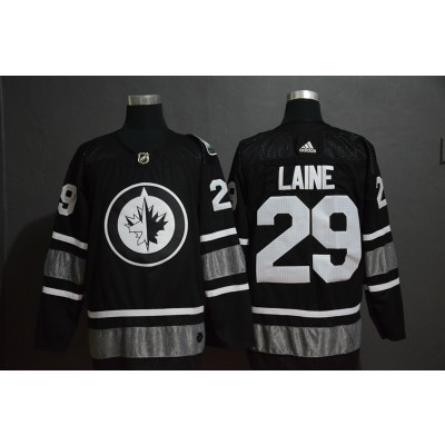 NHL Jets 29 Patrik Laine Black 2019 All-Star Adidas Men Jersey