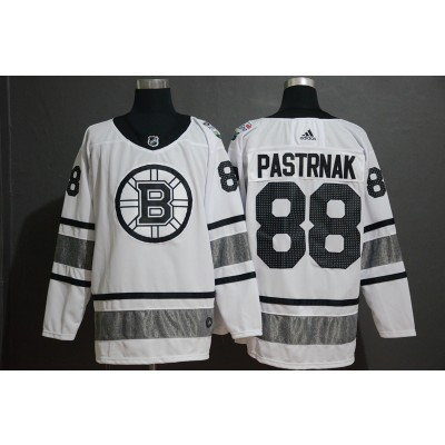 NHL Bruins 88 David Pastrnak White 2019 All-Star Game Adidas Men Jersey
