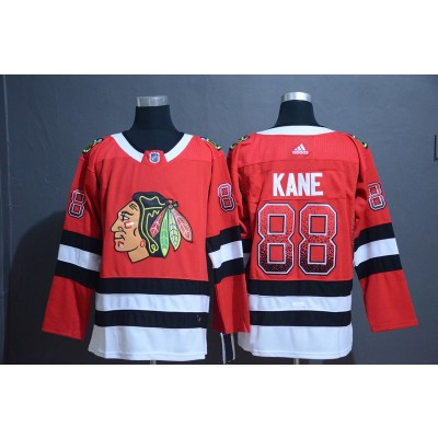 NHL Blackhawks 88 Patrick Kane Red Drift Fashion Adidas Men Jersey