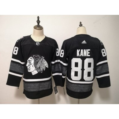 NHL Blackhawks 88 Patrick Kane Black 2019 All-Star Game Adidas Men Jersey