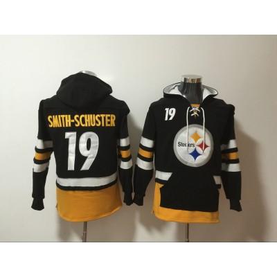 Nike Steelers 19 JuJu Smith-Schuster Black All Stitched Hooded Men Sweatshirt