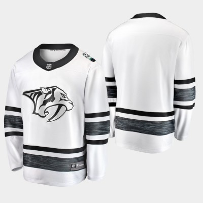 NHL Predators Blank White 2019 All-Star Game Adidas Men Jersey
