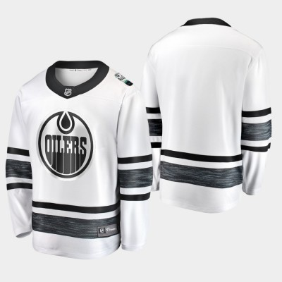 NHL Oilers Blank White 2019 All-Star Game Adidas Men Jersey