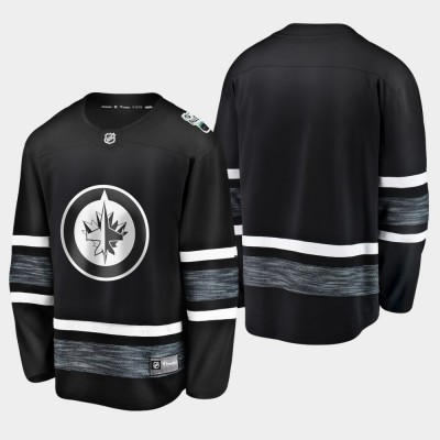 NHL Jets Blank Black 2019 All-Star Game Adidas Men Jersey