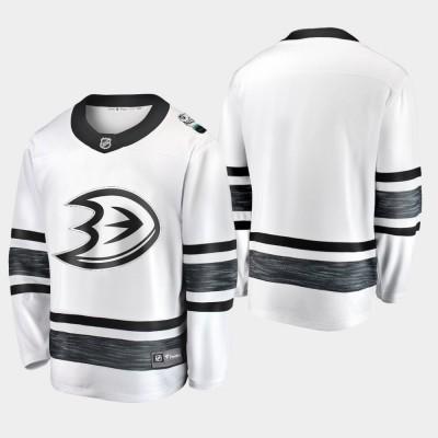 NHL Ducks Blank White 2019 All-Star Game Adidas Men Jersey