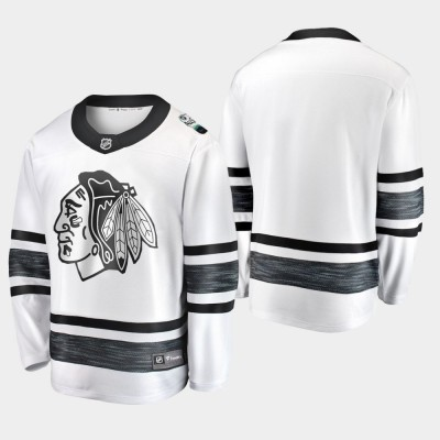 NHL Blackhawks White Blank 2019 All-Star Game Adidas Men Jersey
