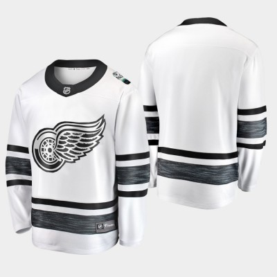 NHL Red Wings Blank White 2019 All-Star Game Adidas Men Jersey