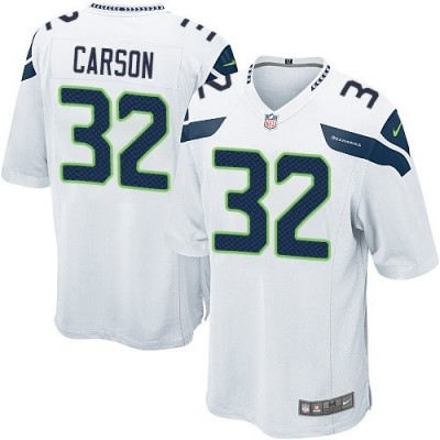 Nike NFL Seahawks 32 Chris Carson White Youth Jersey
