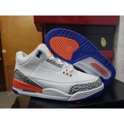 Air Jordan 3 White/Orange/Blue Shoes